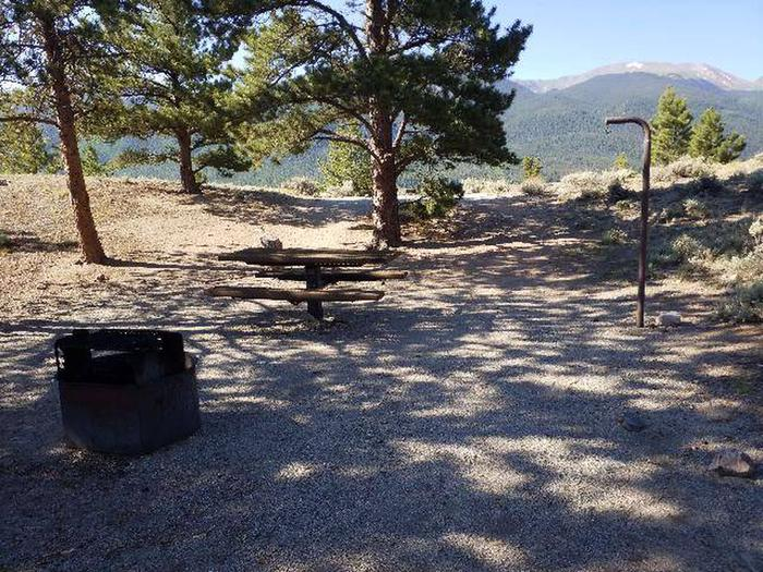 White Star Campground, site 16 fire ring and picnic table