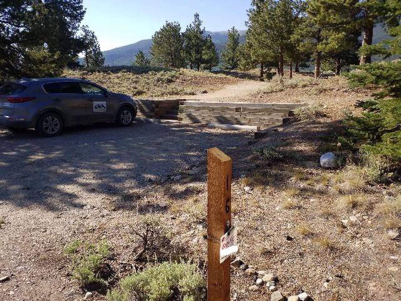 White Star Campground, site 16 marker