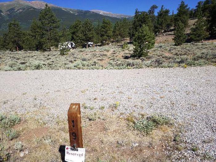 White Star Campground, site 19 marker