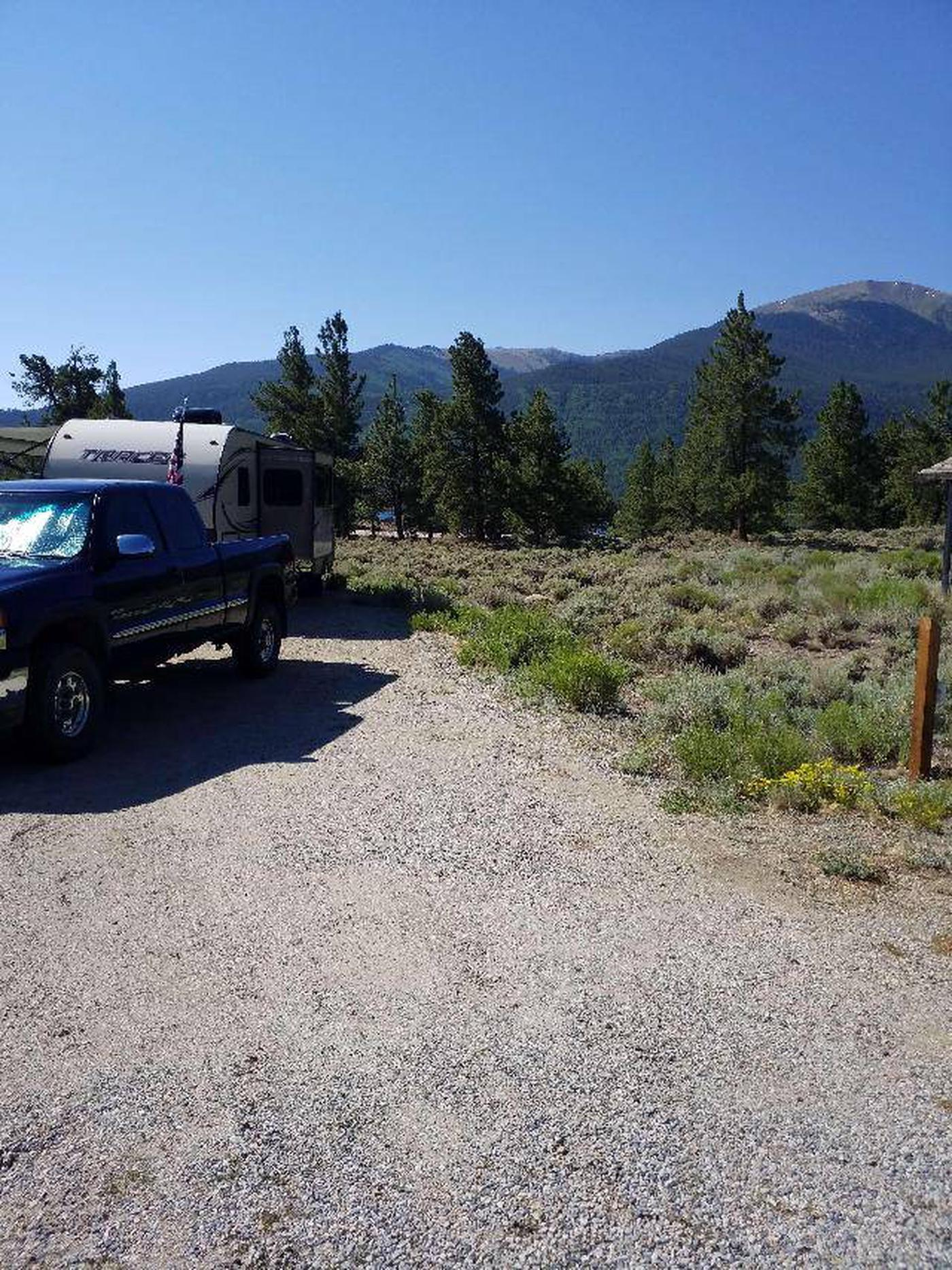 White Star Campground, site 20 view