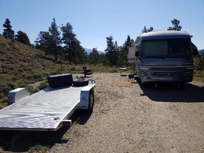 White Star Campground, site 21 parking