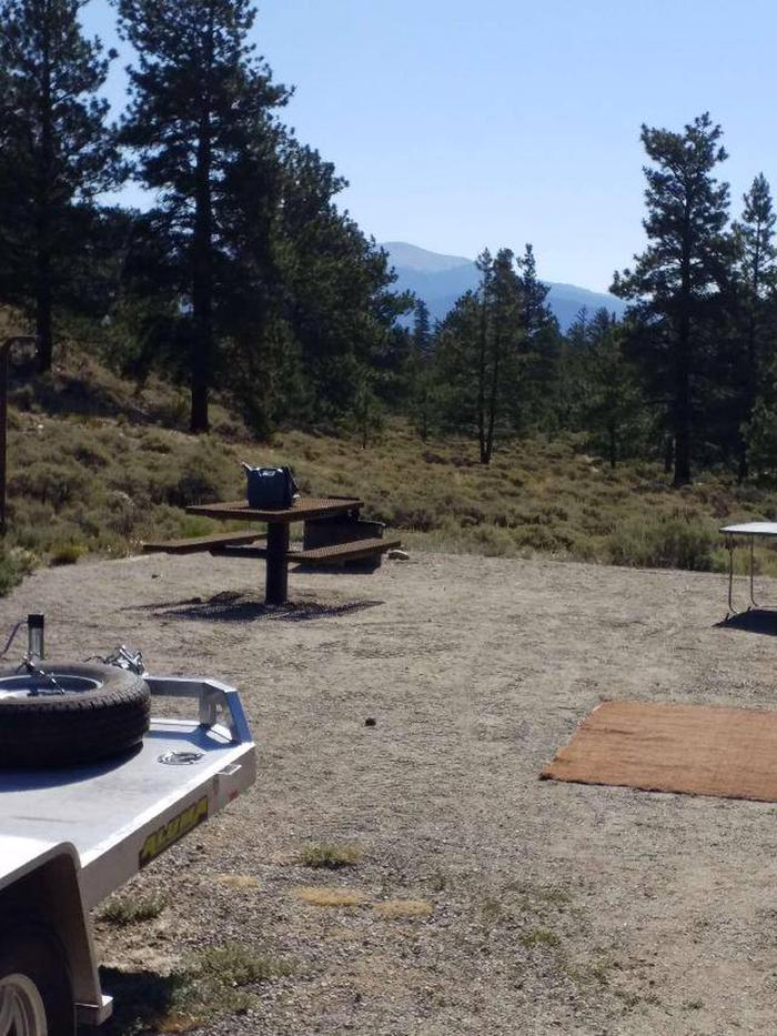 White Star Campground, site 21 picnic table