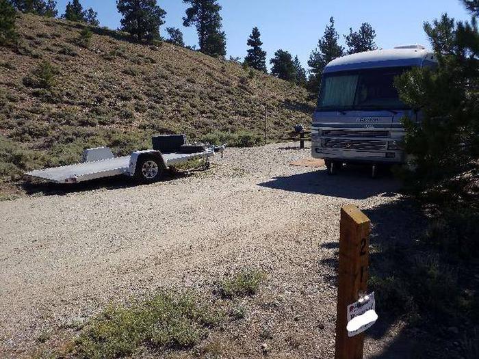 White Star Campground, site 21 marker