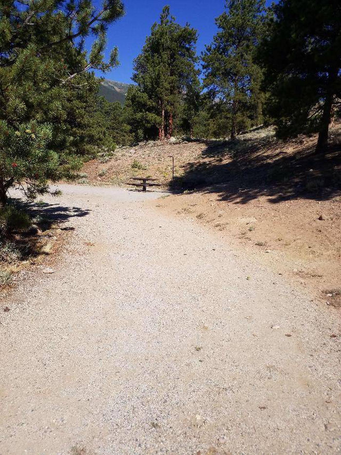 White Star Campground, site 23 parking