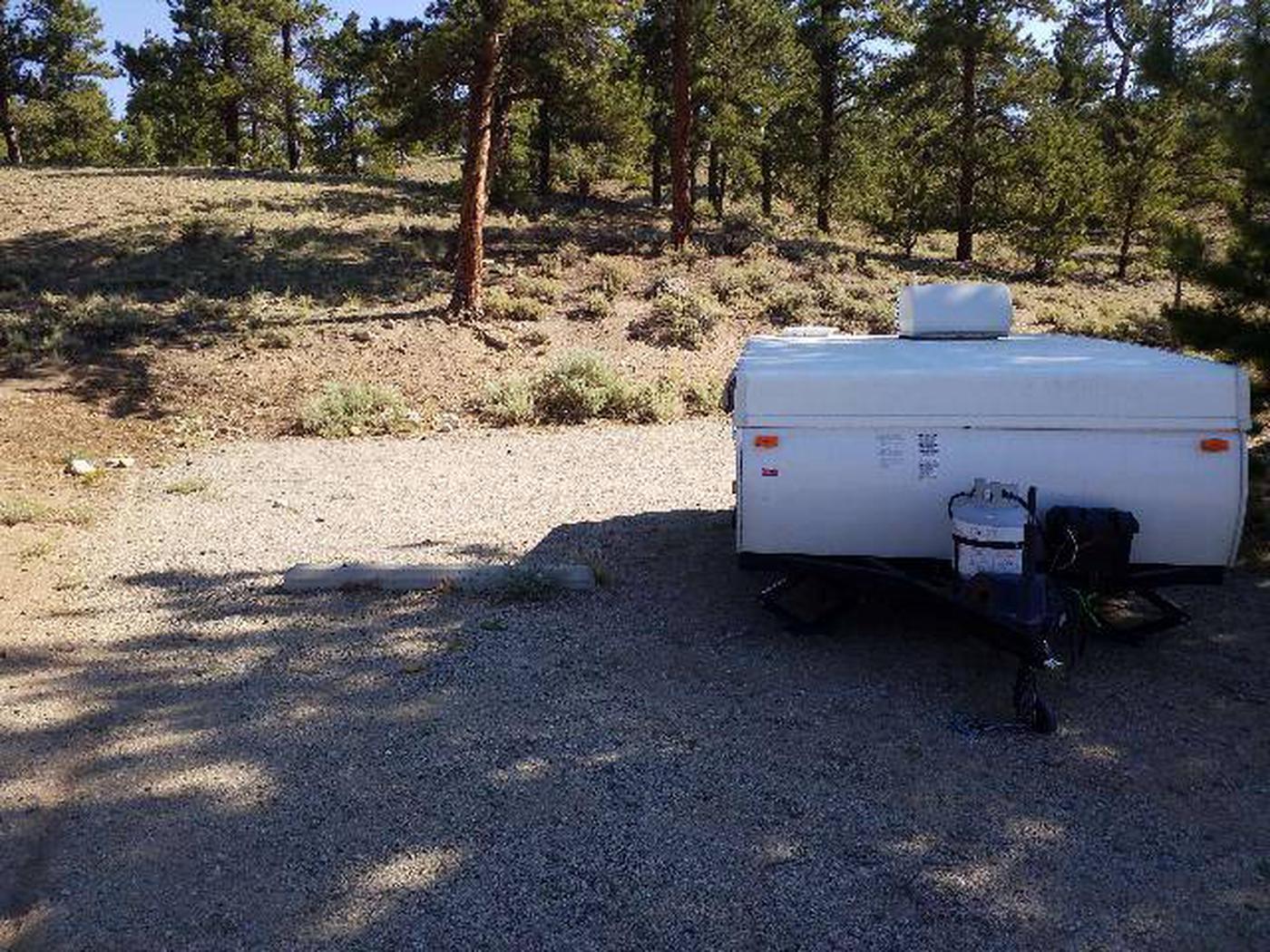 White Star Campground, site 27 parking