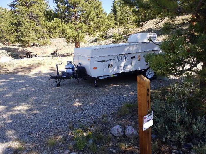 White Star Campground, site 27 marker
