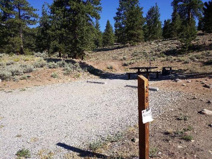 White Star Campground, site 28 marker