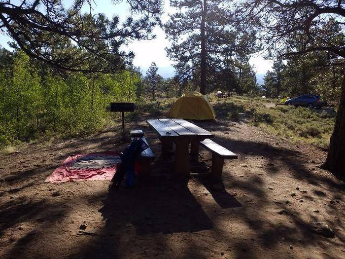 White Star Campground, site 46 picnic table