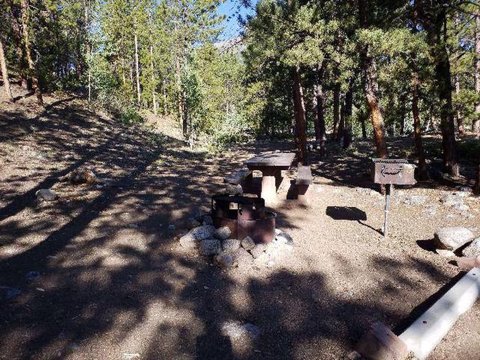 White Star Campground, site 48 picnic table and grill