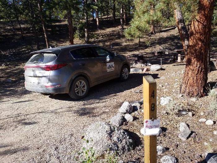 White Star Campground, site 48 marker