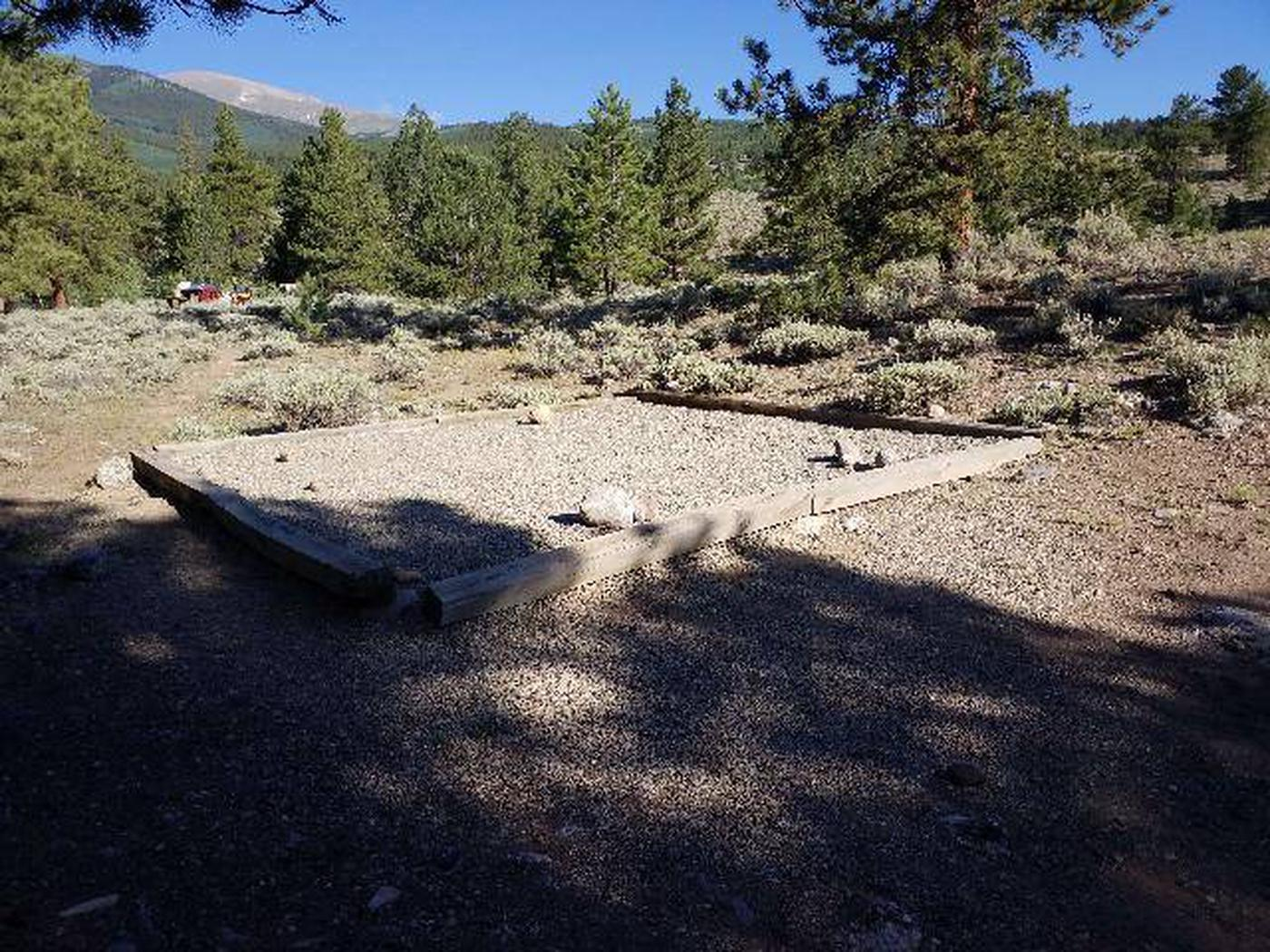 White Star Campground, site 49 tent pad