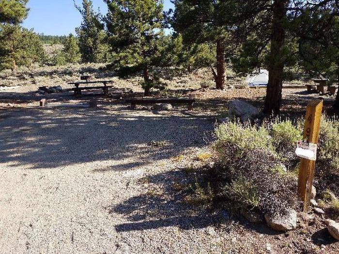 White Star Campground, site 49 marker