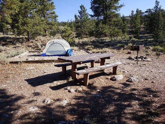 White Star Campground, site 50 picnic table