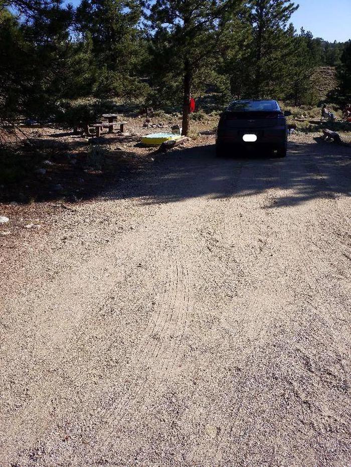 White Star Campground, site 50 parking