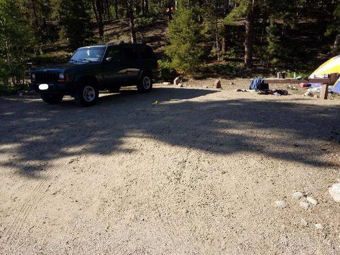 White Star Campground, site 51 parking