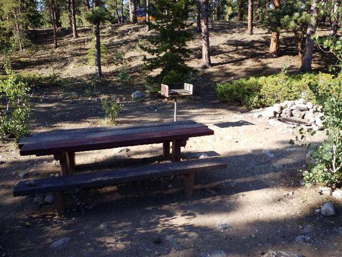 White Star Campground, site 51 picnic table and grill