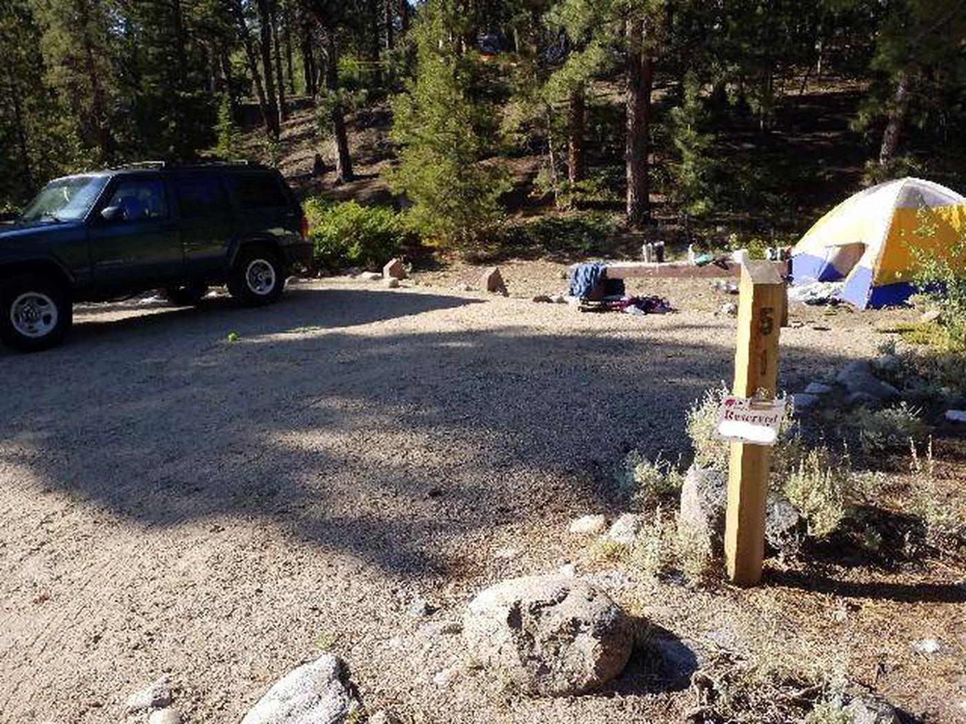 White Star Campground, site 51 marker