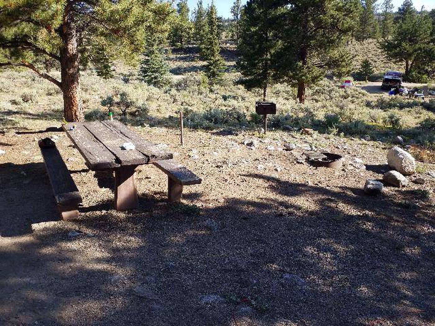 White Star Campground, site 52 picnic table White Star Campground, site 52 picnic table