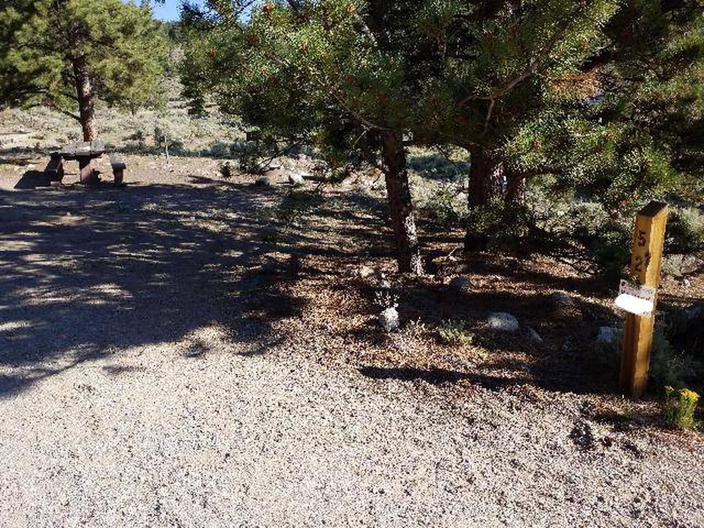 White Star Campground, site 52 marker White Star Campground, site 52 marker