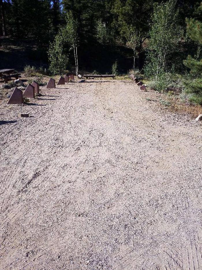 White Star Campground, site 53 parking