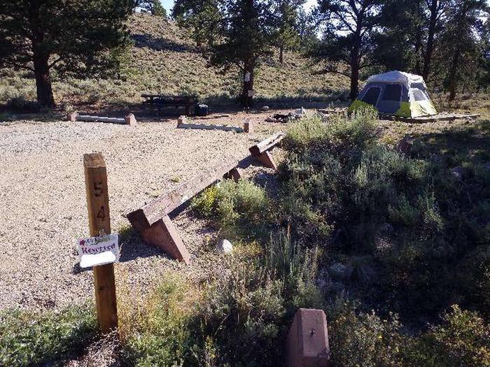 White Star Campground, site 54 marker