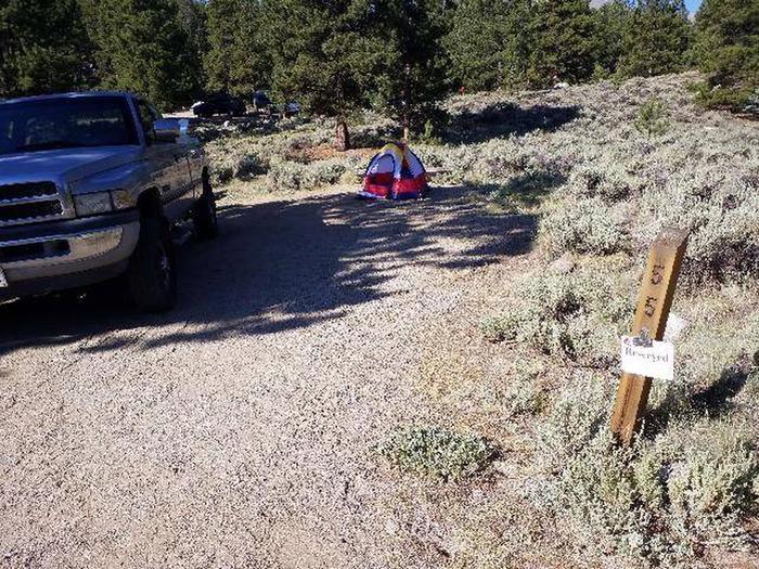 White Star Campground, site 55 marker