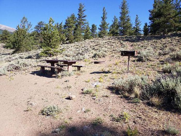 White Star Campground, site 56 picnic table and grill
