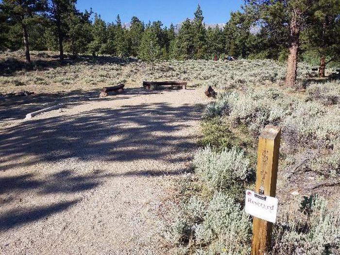 White Star Campground, site 57 marker