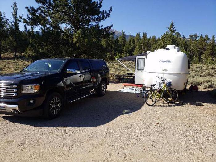 White Star Campground, site 58 parking