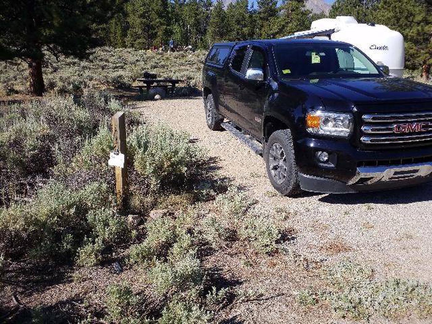 White Star Campground, site 58 marker