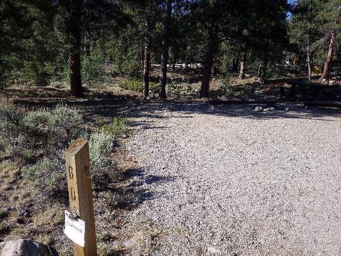 White Star Campground, site 60 marker