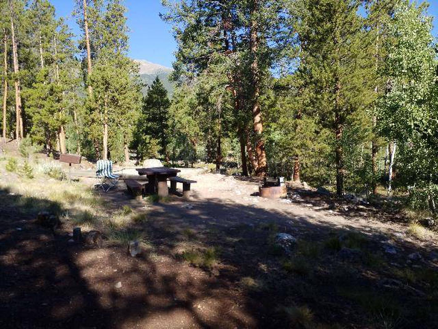 White Star Campground, site 66 picnic table