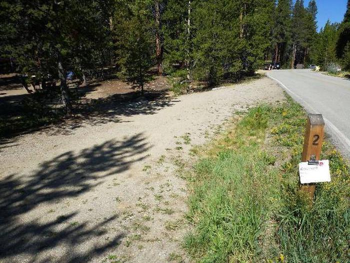Father Dyer Campground, site 2 marker and parking