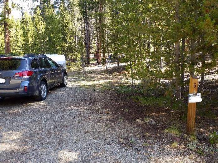 Father Dyer Campground, site 6 marker