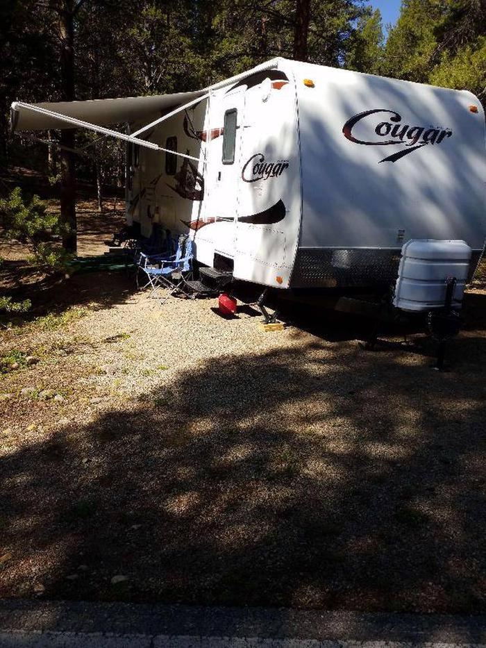 Father Dyer Campground, site 13 parking