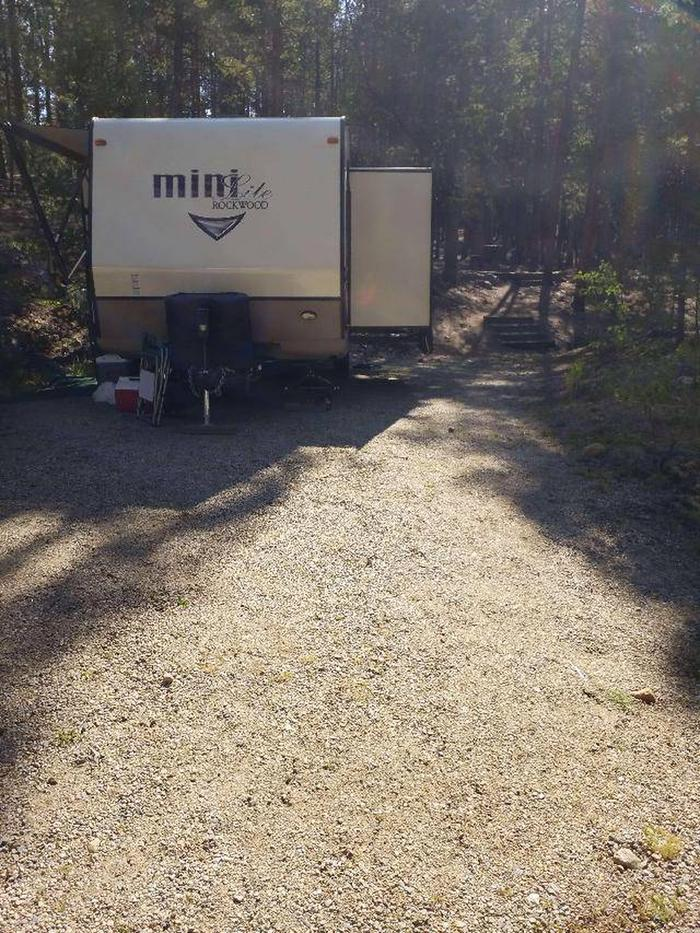 Father Dyer Campground, site 14 parking