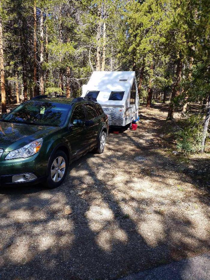 Father Dyer Campground, site 17 parking