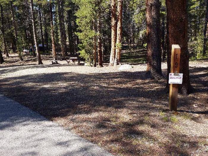 Father Dyer Campground, site 19 marker