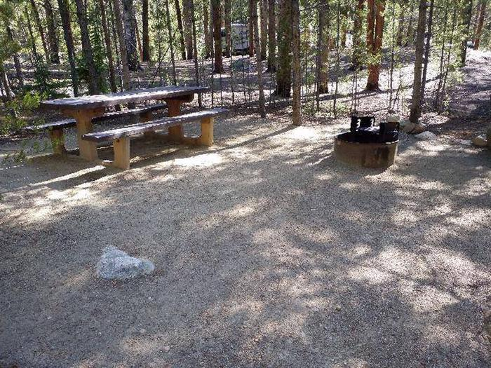 Father Dyer Campground, site 18 picnic table