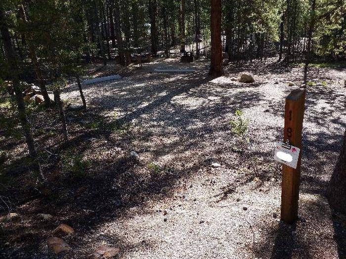 Father Dyer Campground, site 18 marker