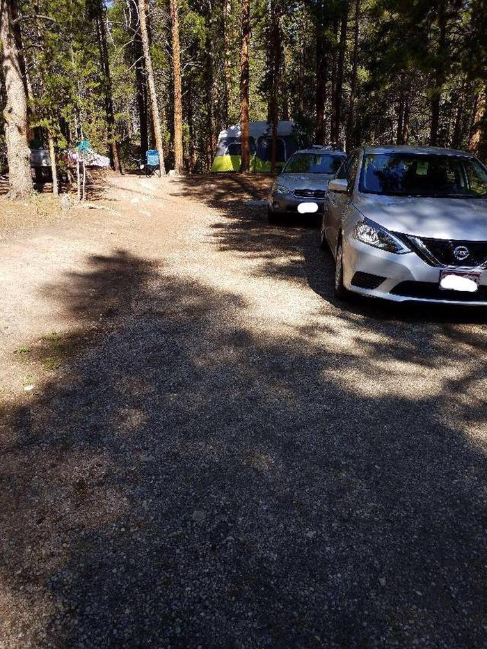 Father Dyer Campground, site 21 parking