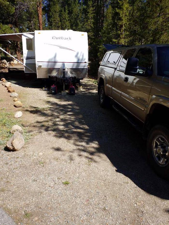Father Dyer Campground, site 24 parking