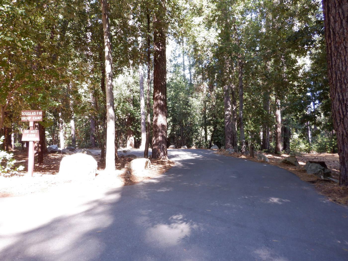 Entrance to Douglas Fir Campsite