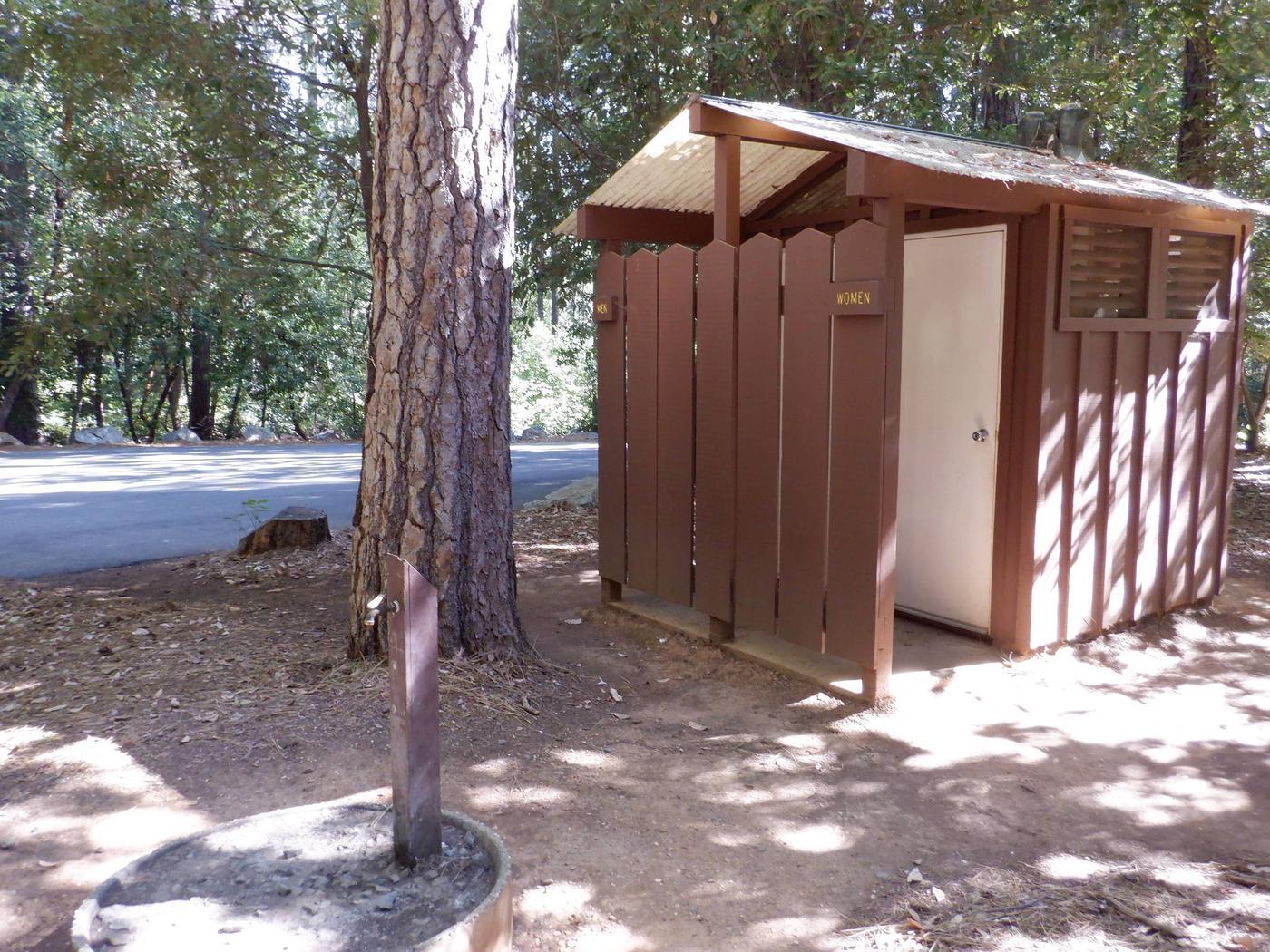 Vault Toilet and Water Spigot