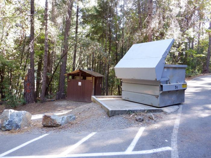 Trash and Vault Toilet for Campsites 5-10