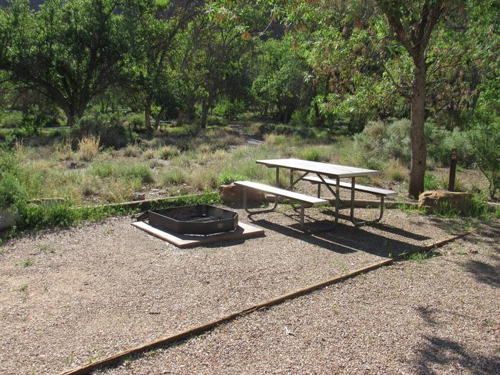 site C8 Bench and fire pit