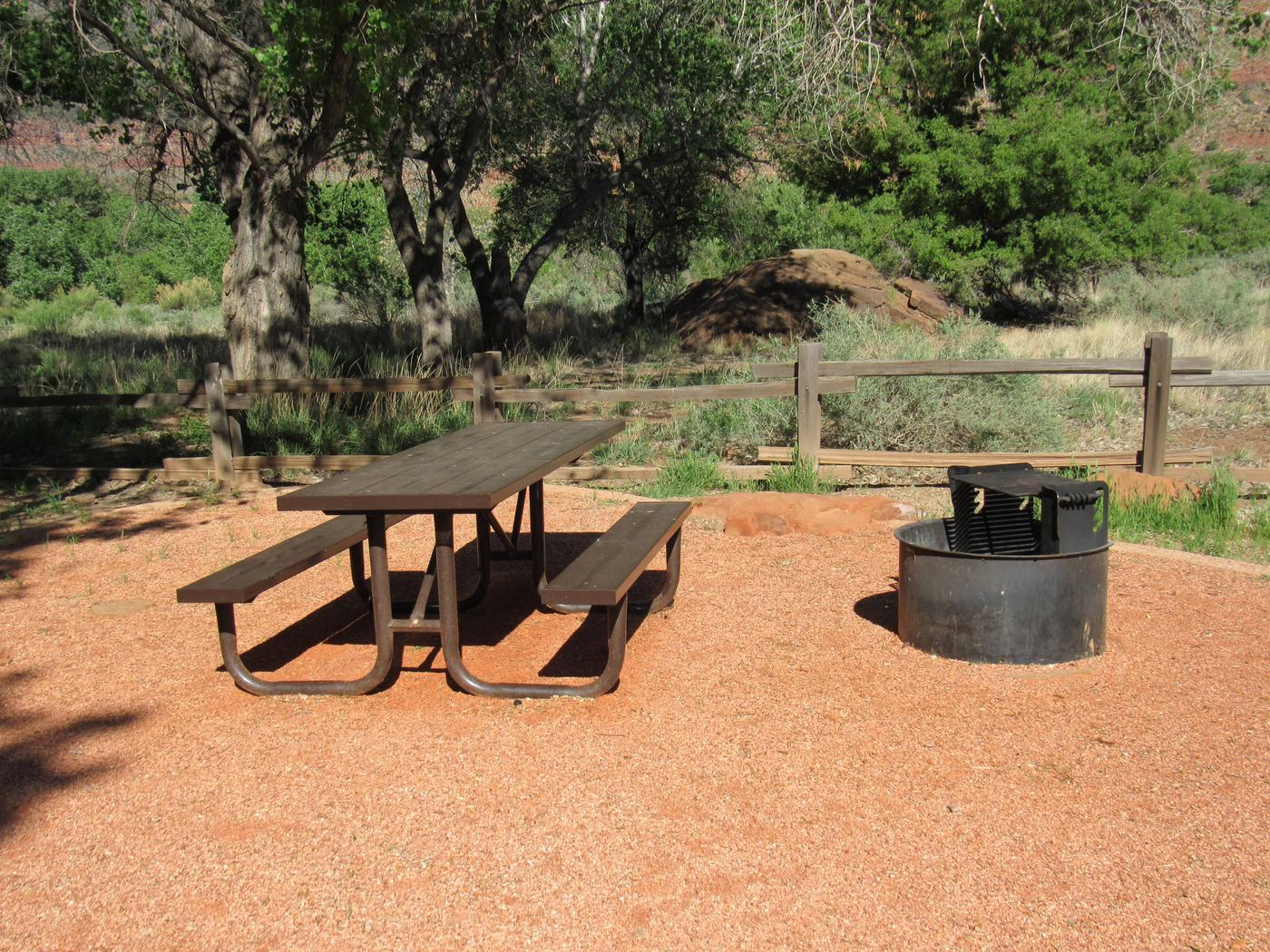Site C14Bench and fire pit