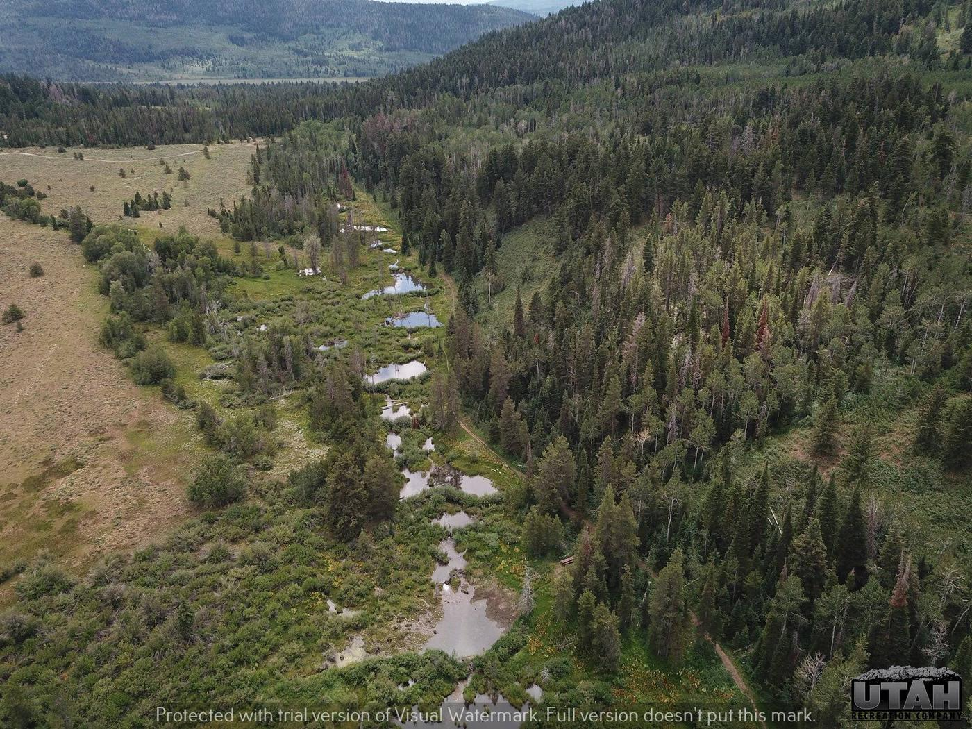 Shingle Creek aerialShingle Creek Atv Campground