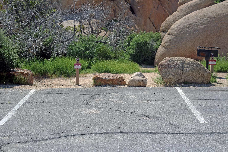 Shared campsite parking.Campsite parking
