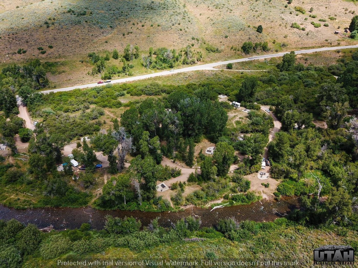 Willows Campground (UT) aerialWillows Campground (UT)